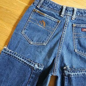 Jordache Jeans - Jordache vintage high waisted  raw hem jeans
